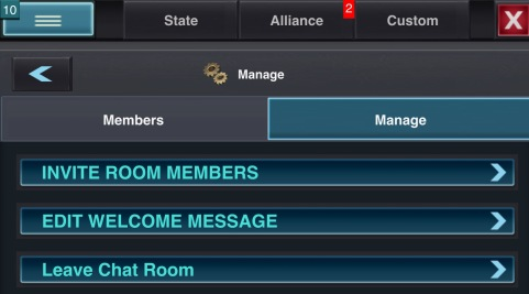 Chatroom Manage button