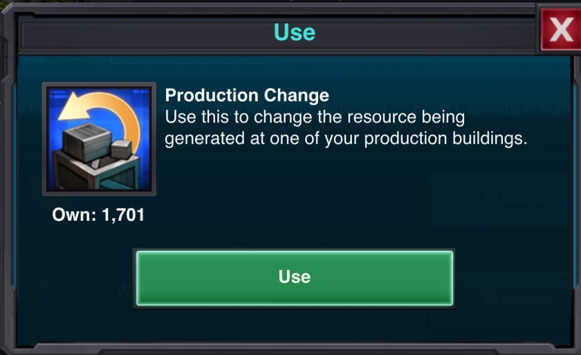 Production Change